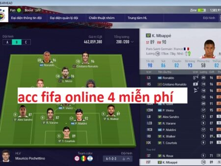 Acc fifa free, Acc fifa online 4 miễn phí mới nhất